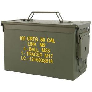 Mil-Tec Box munizioni US M2A1 cal,50 in verde oliva