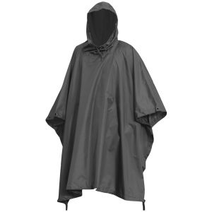 Poncho impermeabile in Ripstop in nero