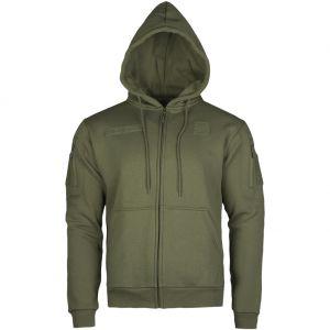 Mil-Tec felpa Tactical con cappuccio e zip in Ranger Green