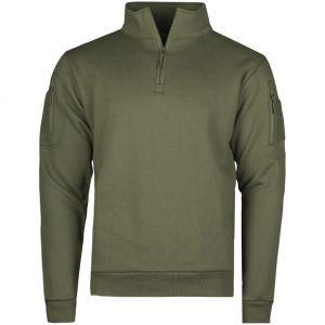 Mil-Tec felpa Tactical con zip sul petto in Ranger Green