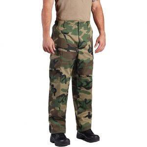 Propper pantaloni BDU con patta a bottoni in twill di policotone in Woodland