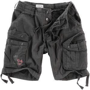 Surplus shorts vintage effetto slavato Airborne in nero