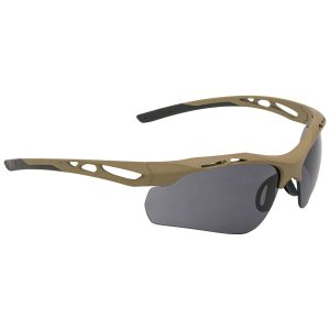 Swiss Eye occhiali da sole Attac - lenti fumé + arancioni + trasparenti / montatura in gomma Coyote