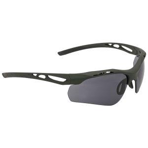 Swiss Eye occhiali da sole Attac - lenti fumé + arancioni + trasparenti / montatura in gomma verde oliva