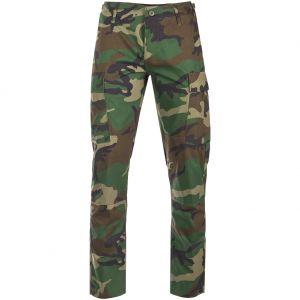 Teesar pantaloni US BDU in ripstop SlimFit Woodland