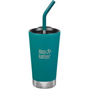 Klean Kanteen bicchiere termico 473 ml tappo con cannuccia in Emerald Bay