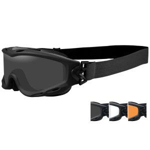 Wiley X occhiali protettivi Spear con lenti grigie fumé + trasparenti + ruggine chiaro e struttura in nero opaco