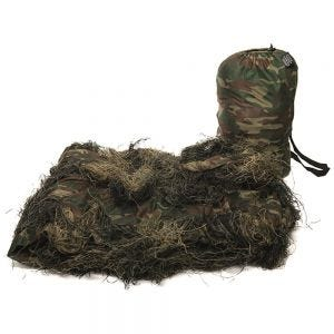 Mil-Tec copertura ghillie Anti Fire 300x200cm in Woodland