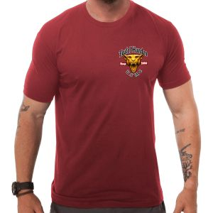 7.62 Design T-shirt USMC Devil Dog in rosso