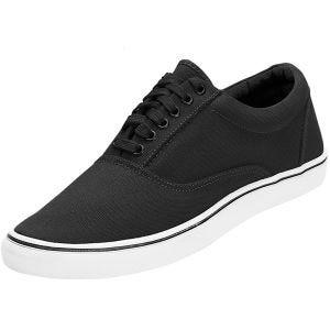 Brandit scarpe sneaker Bayside in nero/bianco