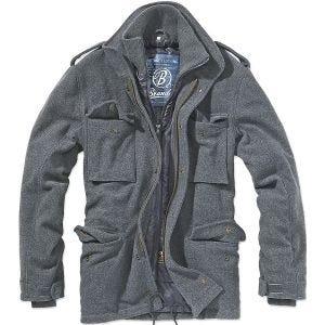 Brandit giacca di lana M-65 Voyager in Anthracite