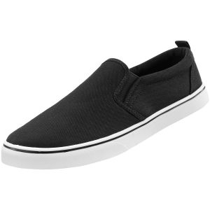 Brandit scarpe sneaker Southampton senza lacci in nero/bianco