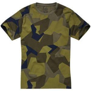 Brandit T-shirt in Swedish Camo M90