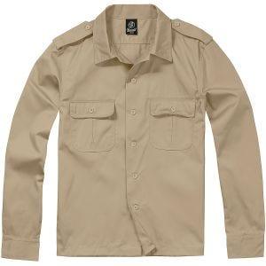 Brandit camicia US a maniche lunghe in beige