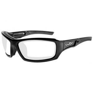 Wiley X occhiali WX Echo con lenti trasparenti e struttura in nero lucido