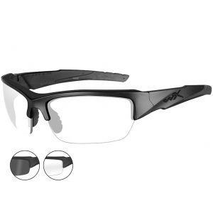 Wiley X occhiali Valor con lenti fumé grigie + lenti trasparenti e struttura in nero opaco