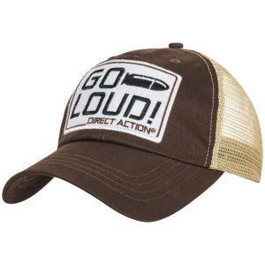 Direct Action cappellino GO LOUD! in marrone