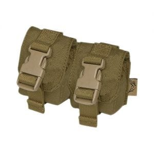 Flyye tasca doppia porta bombe a mano in Coyote Brown