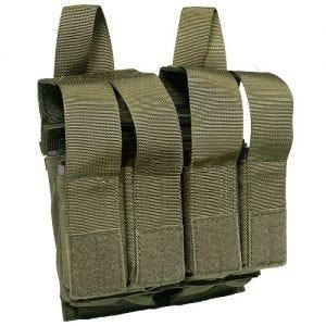 Flyye custodia doppia porta-caricatori M4/M16 + 4 caricatori pistola con attacco MOLLE in Ranger Green