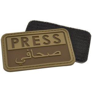 Hazard 4 patch Press / Arabic Reporters 3D in Coyote