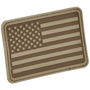 Hazard 4 patch per manica sinistra con bandiera USA in Coyote