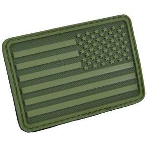 Hazard 4 patch per manica destra con bandiera USA in Olive Green