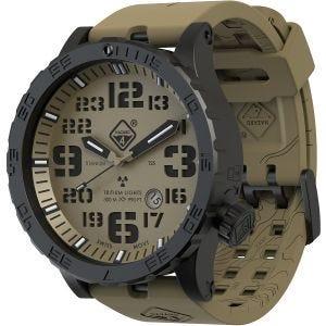 Hazard 4 orologio Heavy Water Diver Titanium Tritium quadrante Arid con grafica verde/giallo
