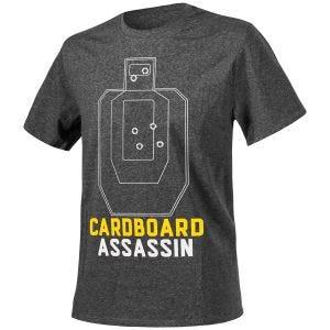 Helikon T-shirt Cardboard Assassin in mélange nero-grigio
