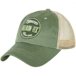 Helikon cappello Trucker con logo twill in verde