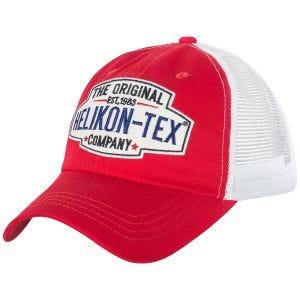 Helikon cappello Trucker con logo in rosso