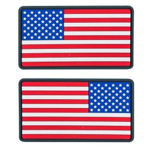 Helikon toppa bandiera USA large in PVC in True colours (confezione da 2)