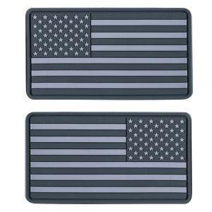 Helikon toppa bandiera USA Subdued large in grigio (confezione da 2)