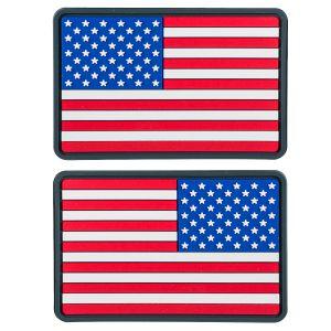 Helikon toppa bandiera USA small in PVC in True colours (confezione da 2)