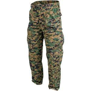 Helikon pantaloni USMC in saia di policotone in Digital Woodland