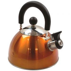 Highlander bollitore deluxe in acciaio inox con funzione fischio in arancione