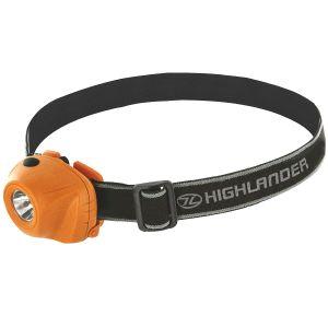 Highlander torcia da testa fascio Beam LED 1W in arancio/nero
