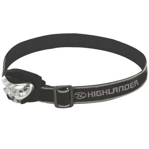 Highlander torcia da testa Vision 2+1 LED in nero