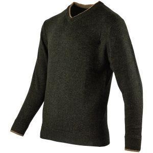 Jack Pyke  pullover con scollo a V Ashcombe in verde oliva scuro