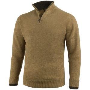 Jack Pyke pullover con zip sul petto Ashcombe in Barley