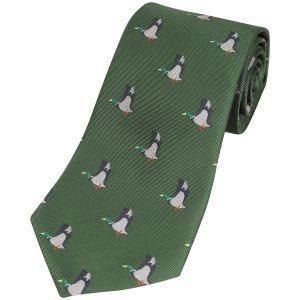 Jack Pyke cravatta fantasia anatra in verde