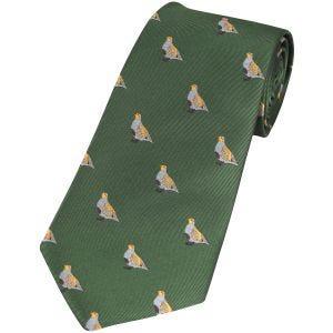 Jack Pyke cravatta fantasia pernice in verde