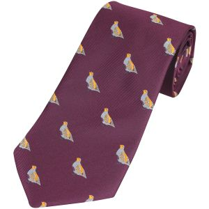 Jack Pyke cravatta fantasia pernice in vinaccia