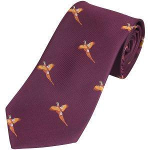 Jack Pyke cravatta fantasia fagiano in vinaccia
