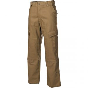 MFH pantaloni da combattimento ACU in Ripstop Coyote Tan