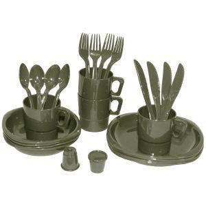 MHF set da 26 pezzi di stoviglie in plastica per campeggio