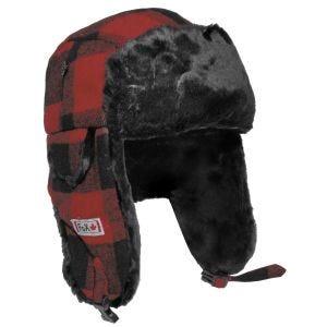 Fox Outdoor cappello Lumberjack in peliccia rosso/nero