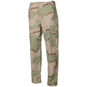 MFH pantaloni BDU da combattimento in Ripstop Desert a 3 colori