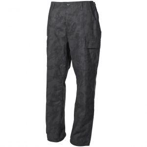 MFH pantaloni BDU da combattimento in Ripstop Night Camo
