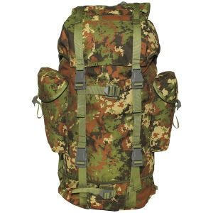 MHF zaino esercito tedesco 65L in Vegetato Woodland