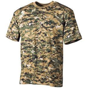 MFH T-shirt in Digital Woodland